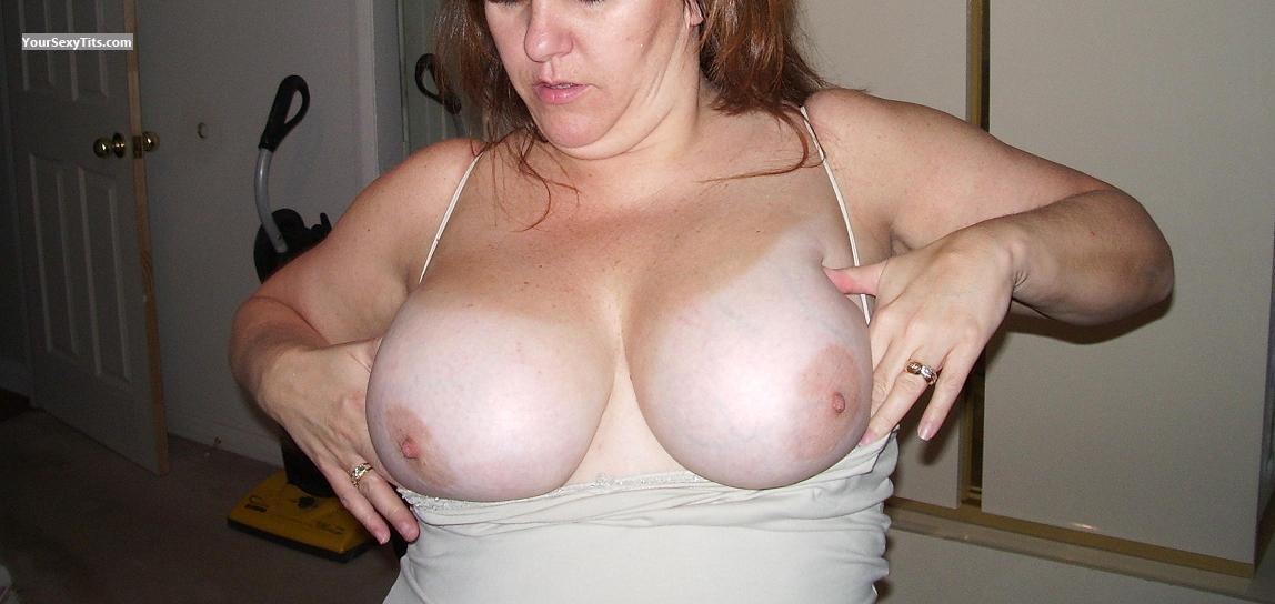 Tit Flash: Extremely Big Tits - The Twins from United States